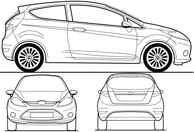 Coloriage et dessins gratuits Voiture Ford Fiesta à imprimer
