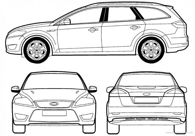 Coloriage et dessins gratuits Voiture Ford Focus à imprimer