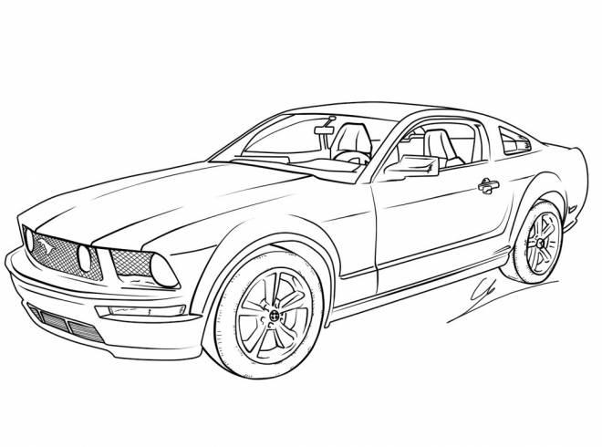 Coloriage et dessins gratuits Voiture Ford nouvelle génération à imprimer