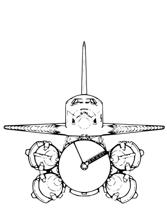 Coloriage et dessins gratuits Atterrissage de Fusée à imprimer
