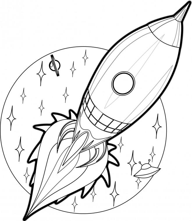 Coloriage et dessins gratuits Fusée Apollo 11 à imprimer