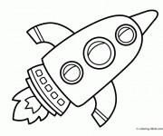 Coloriage Fusée dessin animé