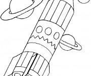 Coloriage Fusée en forme de crayon