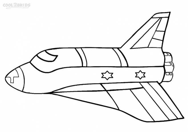 Coloriage et dessins gratuits Fusée en plein vol à imprimer