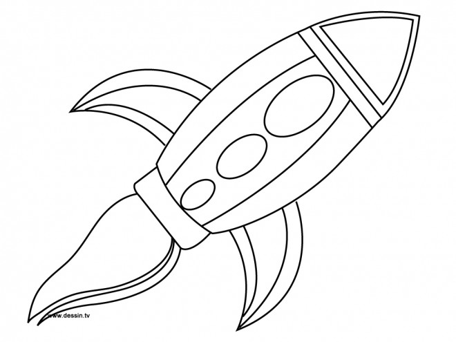 Coloriage et dessins gratuits Fusée facile à imprimer