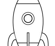 Coloriage Fusée facile stylisé