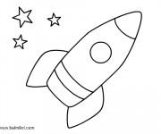Coloriage et dessins gratuit Fusée maternelle à imprimer