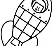 Coloriage et dessins gratuit Fusée pour enfant à imprimer