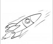 Coloriage Fusée spatiale rapide