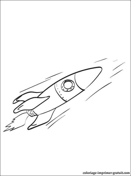 Coloriage et dessins gratuits Fusée spatiale rapide à imprimer