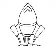Coloriage Fusée Spatiale vecteur en ligne