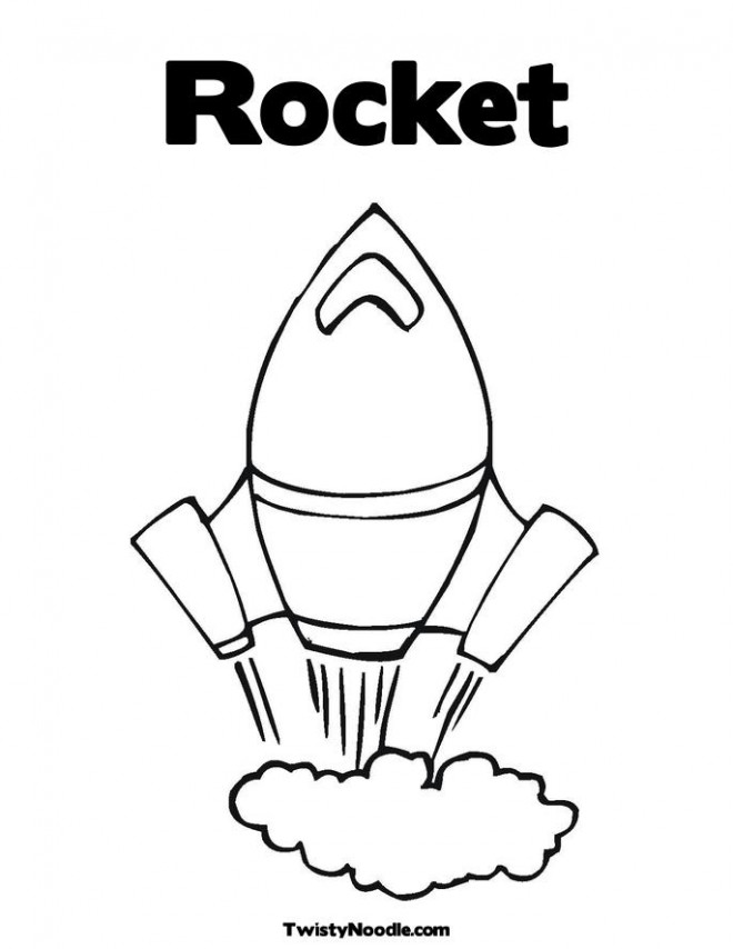 Coloriage et dessins gratuits Fusée Spatiale vecteur en ligne à imprimer