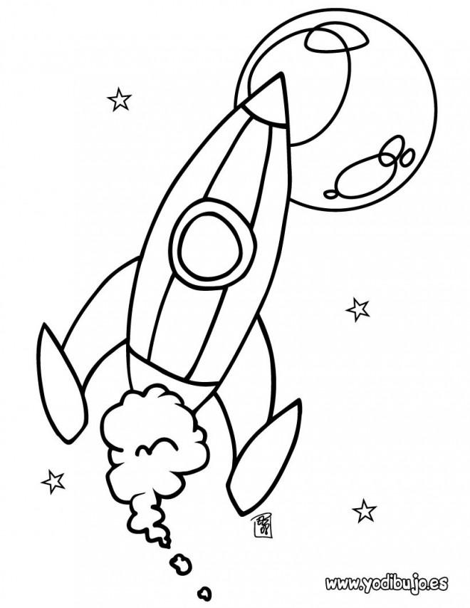 Coloriage et dessins gratuits Fusée stylisé à imprimer