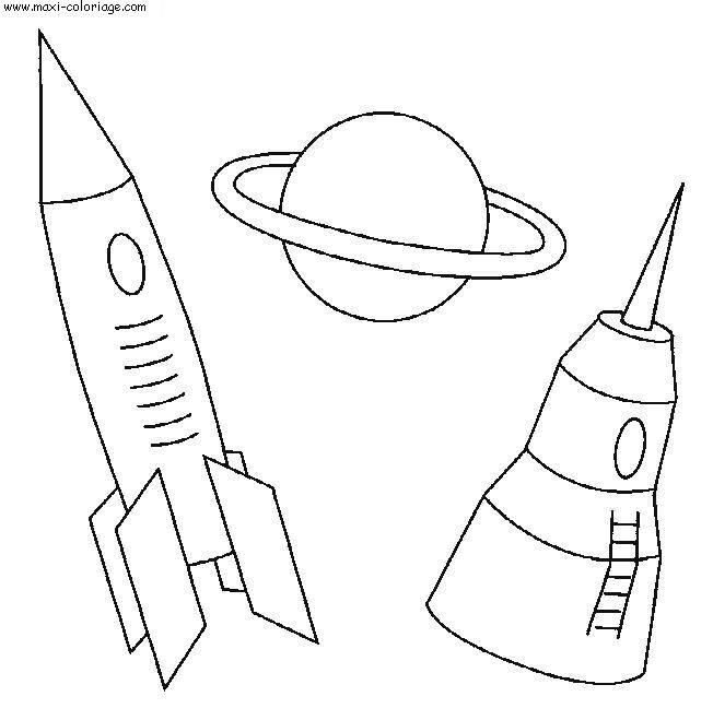 Coloriage et dessins gratuits Fusée Tintin à imprimer