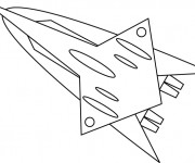 Coloriage Fusée volante
