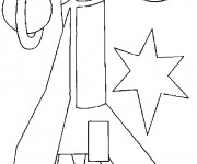 Coloriage et dessins gratuit Illustrations Fusée spatiale à imprimer