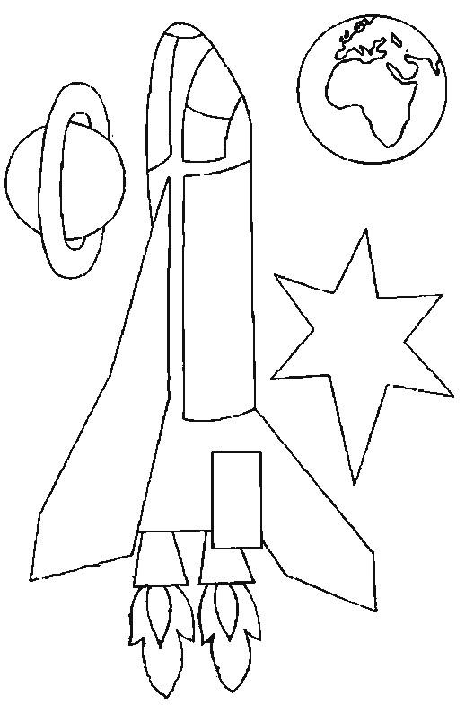 Coloriage et dessins gratuits Illustrations Fusée spatiale à imprimer