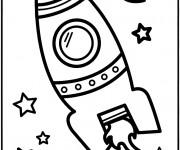 Coloriage Navette spatiale vecteur