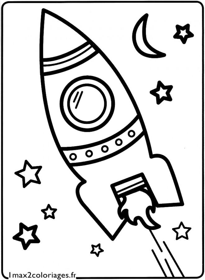 Coloriage et dessins gratuits Navette spatiale vecteur à imprimer