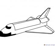 Coloriage Retour de Fusée sur la Terre