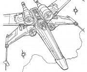 Coloriage Vaisseau spatial de Film Star Wars