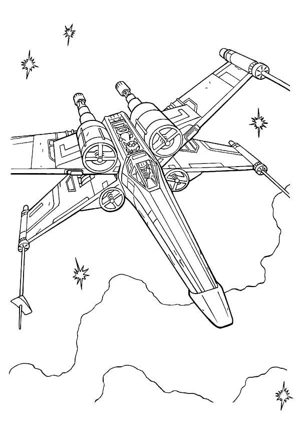 Coloriage vaisseau spatial de film star wars dessin - Coloriage vaisseau spatial ...