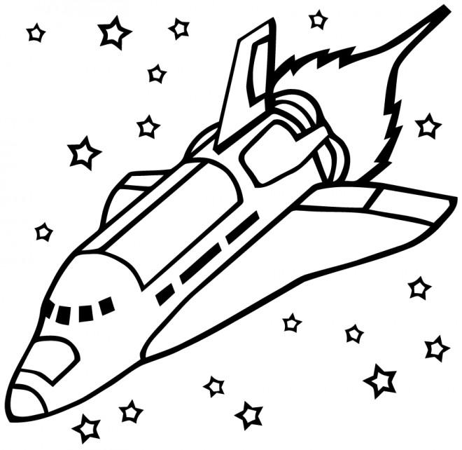 Coloriage vaisseau spatial pour relaxation dessin gratuit imprimer - Dessin vaisseau spatial ...