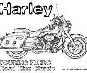 Coloriage Harley Davidson