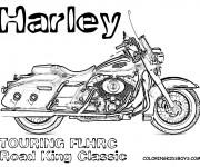 Coloriage Harley Davidson 1