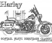 Coloriage Harley Davidson 20