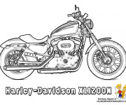 Coloriage Harley Davidson 4