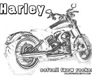 coloriage harley davidson gratuit imprimer. Black Bedroom Furniture Sets. Home Design Ideas