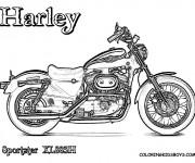 Coloriage Harley Davidson 8