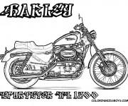 Coloriage Harley Davidson 9