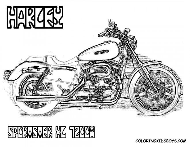 Coloriage et dessins gratuits Harley Davidson à télécharger à imprimer