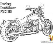 Coloriage et dessins gratuit Harley Davidson couleur à imprimer
