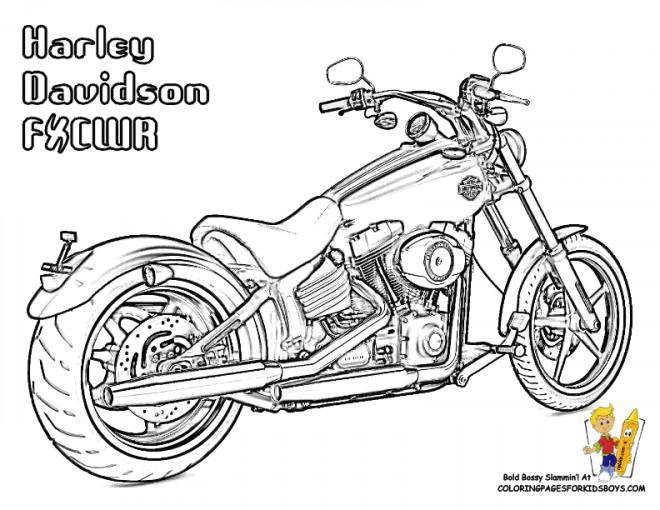 Coloriage et dessins gratuits Harley Davidson couleur à imprimer
