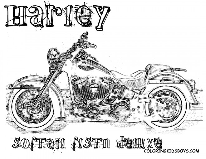 Coloriage et dessins gratuits Harley Davidson deluxe à imprimer