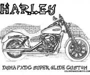 Coloriage et dessins gratuit Harley Davidson Dyna FXDC super Glide à imprimer