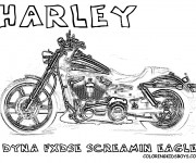Coloriage et dessins gratuit Harley Davidson Dyna screaming Eagle à imprimer