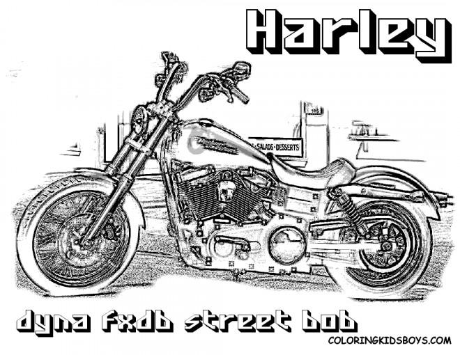 Coloriage et dessins gratuits Harley Davidson Dyna Street Bob à imprimer