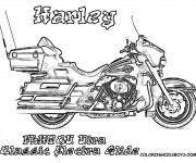 Coloriage et dessins gratuit Harley Davidson Electra Glide à imprimer