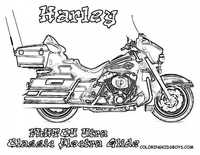 Coloriage et dessins gratuits Harley Davidson Electra Glide à imprimer