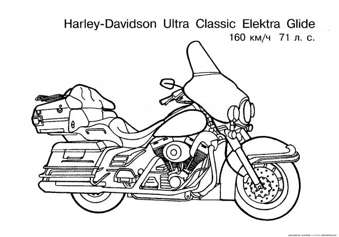 Coloriage et dessins gratuits Harley Davidson Electra Glide Ultra classique à imprimer