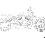 Coloriage et dessins gratuit Harley Davidson facile à imprimer