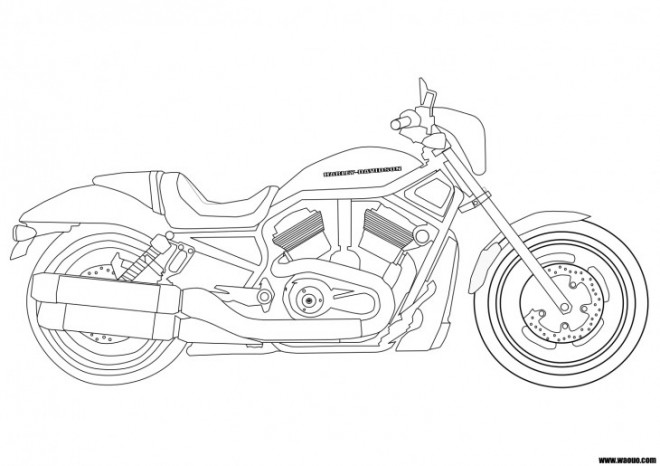 coloriage harley davidson facile dessin gratuit  u00e0 imprimer