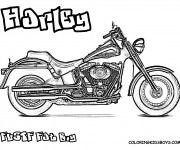 Coloriage Harley Davidson Fat Boy