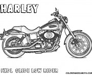 Coloriage et dessins gratuit Harley Davidson FXDL à imprimer