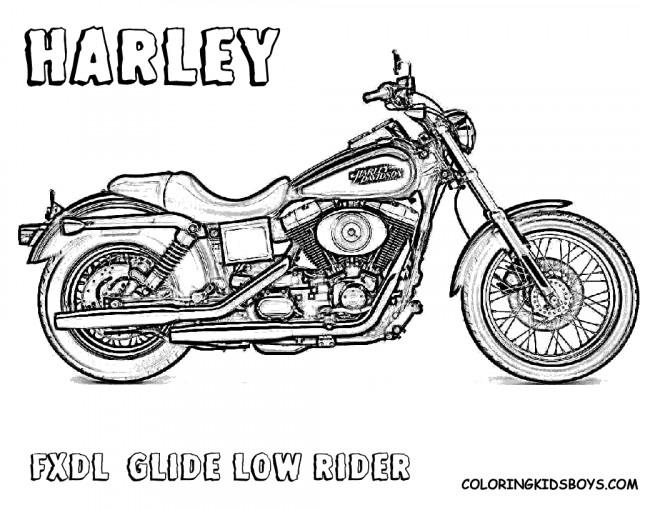 Coloriage et dessins gratuits Harley Davidson FXDL à imprimer