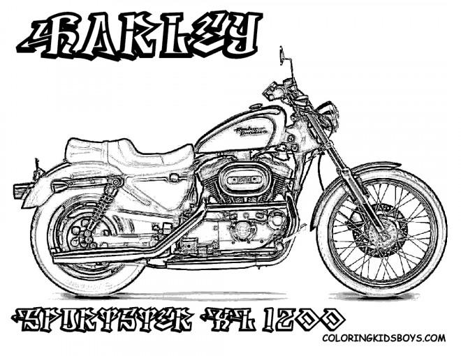 Coloriage et dessins gratuits Harley Davidson KL1200 à imprimer